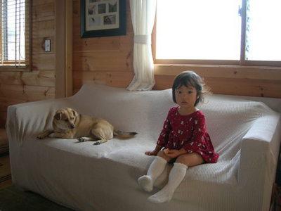 ソファに娘と犬.JPGのサムネール画像のサムネール画像